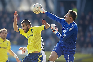 Ferhan Hasani (Br�ndby IF), Stephan Andersen (FC K�benhavn)