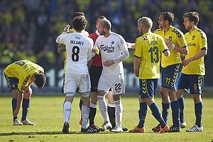 Thomas Delaney, anf�rer (FC K�benhavn), Steve De Ridder (FC K�benhavn), Johan Larsson (Br�ndby IF)