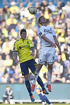 Daniel Agger, anf�rer (Br�ndby IF), Andreas Cornelius (FC K�benhavn)
