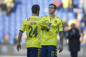 Daniel Agger, anf�rer (Br�ndby IF), Ferhan Hasani (Br�ndby IF)