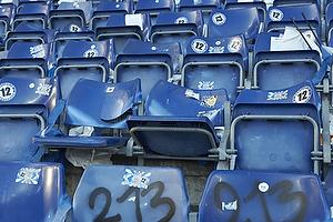 �delagte s�dder p� udebaneafsnittet p� Br�ndby Stadion