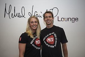 Jeanette Ottesen, MOT ambassad�r og Mike Radoor, MOT ambassad�r i Michael Laudrup Lounge