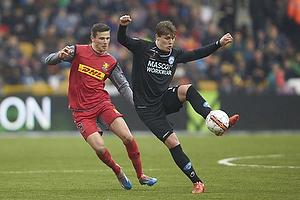 Pascal Gregor (FC Nordsj�lland), Nicolai Agger (Silkeborg IF)