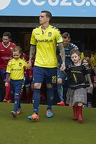 Alma Breumse fra Pige 2007, Daniel Agger (Br�ndby IF) og et organdoner barn