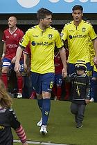 Martin �rnskov (Br�ndby IF) med et organdoner-barn