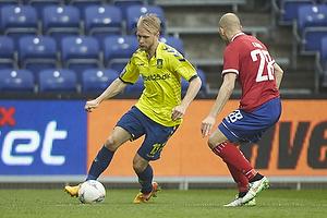 Johan Larsson (Br�ndby IF), Michael Lumb (FC Vestsj�lland)