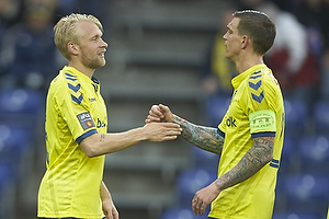 Johan Larsson, m�lscorer (Br�ndby IF), Daniel Agger, anf�rer (Br�ndby IF)