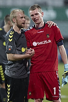 Johan Larsson (Br�ndby IF), Lukas Hradecky (Br�ndby IF)