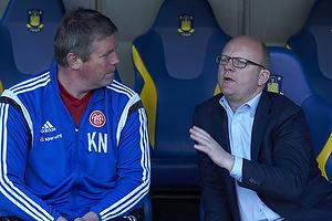 Kent Nielsen, cheftr�ner (Aab), Per Rud, sportsdirekt�r (Br�ndby IF)