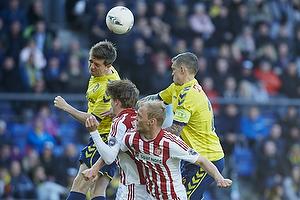 Martin �rnskov (Br�ndby IF), Daniel Agger, anf�rer (Br�ndby IF), Kasper Pedersen (Aab)