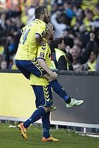 Ferhan Hasani (Br�ndby IF), Johan Larsson, m�lscorer (Br�ndby IF)