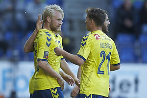 Johan Larsson, m�lscorer (Br�ndby IF), Andrew Hjulsager (Br�ndby IF)