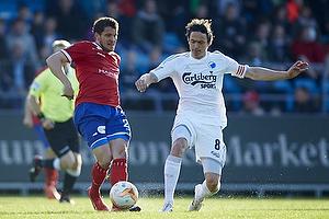 Jan Kristiansen (FC Vestsj�lland), Thomas Delaney, anf�rer (FC K�benhavn)