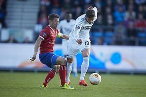 Rasmus Festersen, anf�rer (FC Vestsj�lland), Rurik Gislason (FC K�benhavn)
