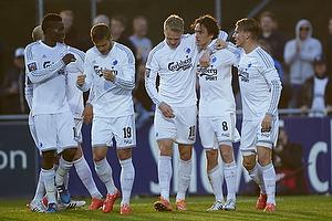 Nicolai J�rgensen (FC K�benhavn), Thomas Delaney, m�lscorer (FC K�benhavn), Christoffer Remmer (FC K�benhavn)