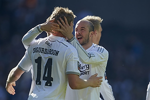 Bjoern Bergmann Sigurdarson, m�lscorer (FC K�benhavn), Steve De Ridder (FC K�benhavn)