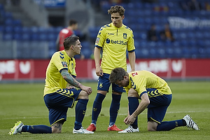 Daniel Agger (Br�ndby IF), Andrew Hjulsager (Br�ndby IF), Martin �rnskov (Br�ndby IF)