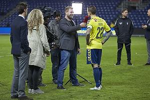 Joachim Boldsen (Viasat (Br�ndby IF), Daniel Agger, anf�rer (Br�ndby IF)