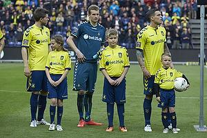 Daniel Agger (Br�ndby IF), Lukas Hradecky (Br�ndby IF), Martin �rnskov (Br�ndby IF)