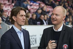 Thomas Frank, cheftr�ner (Br�ndby IF), Glen Riddersholm (FC Midtjylland)