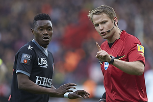 Patrick Banggaard (FC Midtjylland), Jens Maae, dommer