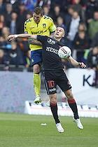 Daniel Agger, anf�rer (Br�ndby IF), Martin Pusic (FC Midtjylland)