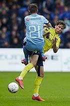 Alexander Fischer (Randers FC), Andrew Hjulsager (Br�ndby IF)