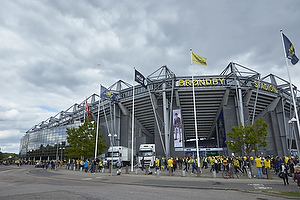 Br�ndbyfans ved Br�ndby Stadion