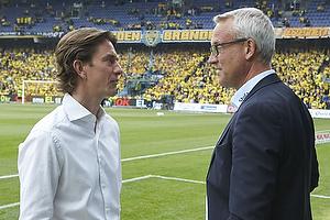Thomas Frank, cheftr�ner (Br�ndby IF), S�ren Poulsen, adm. direkt�r (Esbjerg fB)