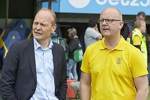 Niels Frederiksen, cheftr�ner (Esbjerg fB), Per Rud, sportsdirekt�r (Br�ndby IF)