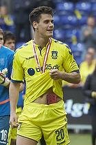 Dario Dumic (Br�ndby IF) med bronze medaljer
