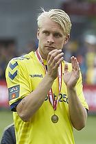 Johan Larsson (Br�ndby IF) med bronze medaljer