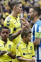 Daniel Agger, anf�rer (Br�ndby IF), Magnus Lekven, anf�rer (Esbjerg fB)
