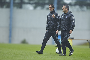 Thomas Frank, cheftr�ner (Br�ndby IF), Albert Capellas, f�rsteassistent (Br�ndby IF)