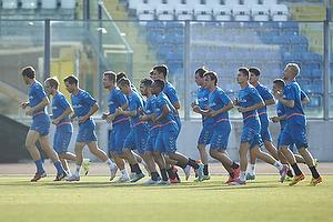 Tr�ning p� San Marino Stadium