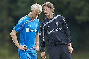 Johan Larsson (Br�ndby IF), Thomas Frank, cheftr�ner (Br�ndby IF)