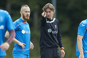 Thomas Frank, cheftr�ner (Br�ndby IF), Magnus Eriksson (Br�ndby IF)