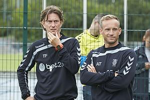 Thomas Frank, cheftr�ner (Br�ndby IF), Ahron Thode, fysisktr�ner (Br�ndby IF)