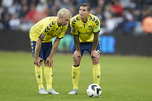 Johan Larsson (Br�ndby IF), Daniel Agger, anf�rer (Br�ndby IF)