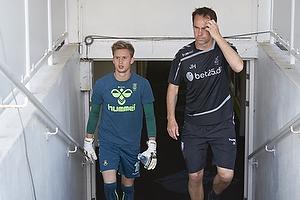 Frederik R�nnow (Br�ndby IF), Jan Hoffmann, m�lmandstr�ner (Br�ndby IF)