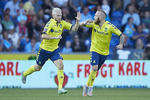 Johan Larsson, m�lscorer (Br�ndby IF), Magnus Eriksson (Br�ndby IF)
