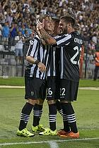 Dimitris Pelkas, m�lscorer (Paok FC), Ergys Kace (Paok FC), Dimitris Konstantinidis (Paok FC)
