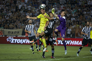Dario Dumic (Br�ndby IF), Ricardo Costa (Paok FC), Robin Olsen (Paok FC)