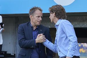 Jakob Michelsen, cheftr�ner (S�nderjyskE), Thomas Frank, cheftr�ner (Br�ndby IF)