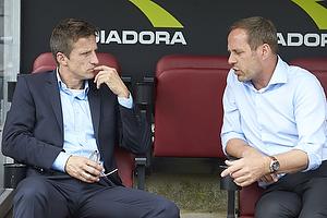 Troels Bech, sportsdirekt�r (Br�ndby IF), Carsten V. Jensen, sportschef (FC Nordsj�lland)