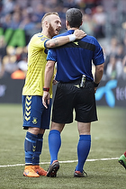 Magnus Eriksson (Br�ndby IF), Michael Tykgaard, dommer