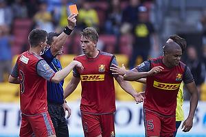 Michael Tykgaard, dommer, Pascal Gregor (FC Nordsj�lland), Andreas Maxs� (FC Nordsj�lland)