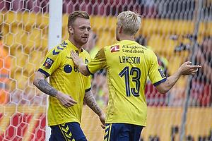 Ronnie Schwartz, m�lscorer (Br�ndby IF), Johan Larsson (Br�ndby IF)
