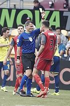 Michael Tykgaard, dommer, Pascal Gregor (FC Nordsj�lland)
