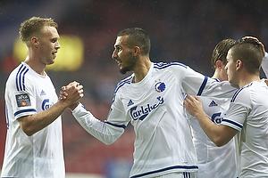 Nicolai J�rgensen (FC K�benhavn), Youssef Toutouh (FC K�benhavn), Benjamin Verbic, m�lscorer (FC K�benhavn)